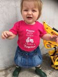 'Prams are for city babies, I prefer a Tractor'